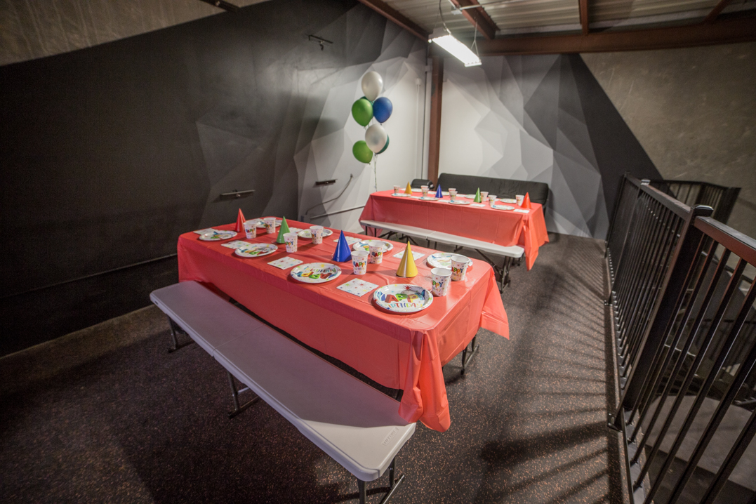 indoor birthday party area