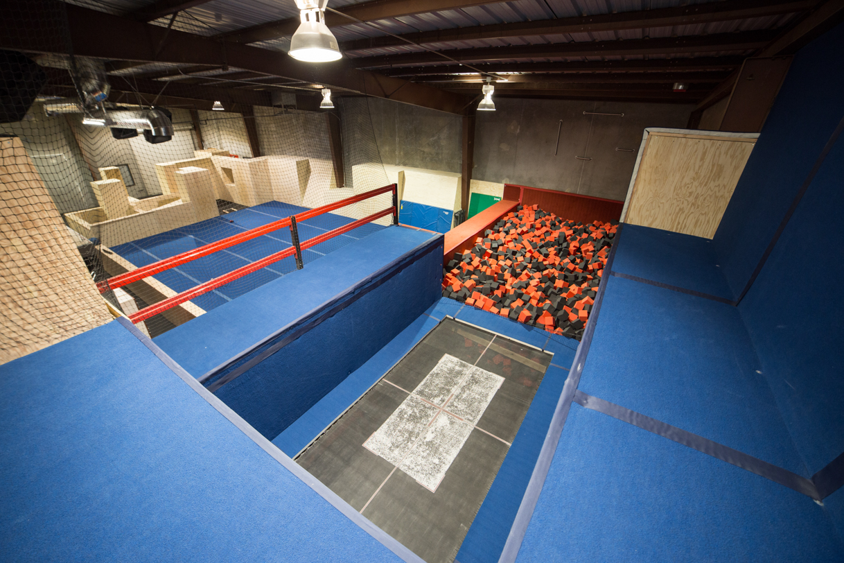 Olympic Trampoline and foam pit