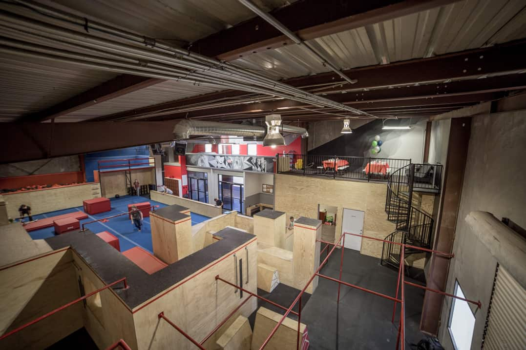 parkour, ninja warrior, and tumbling