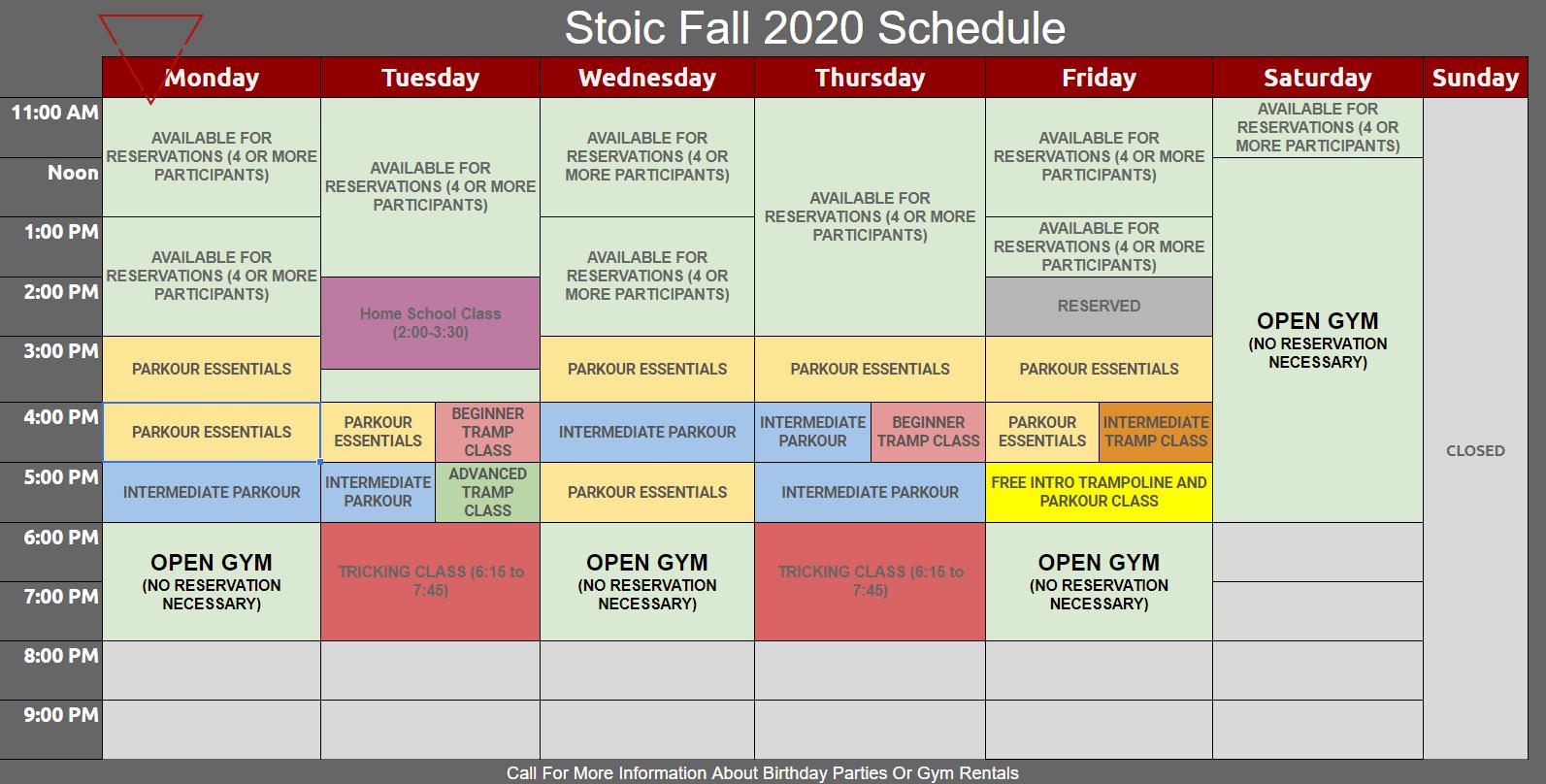 stoic schedule covid